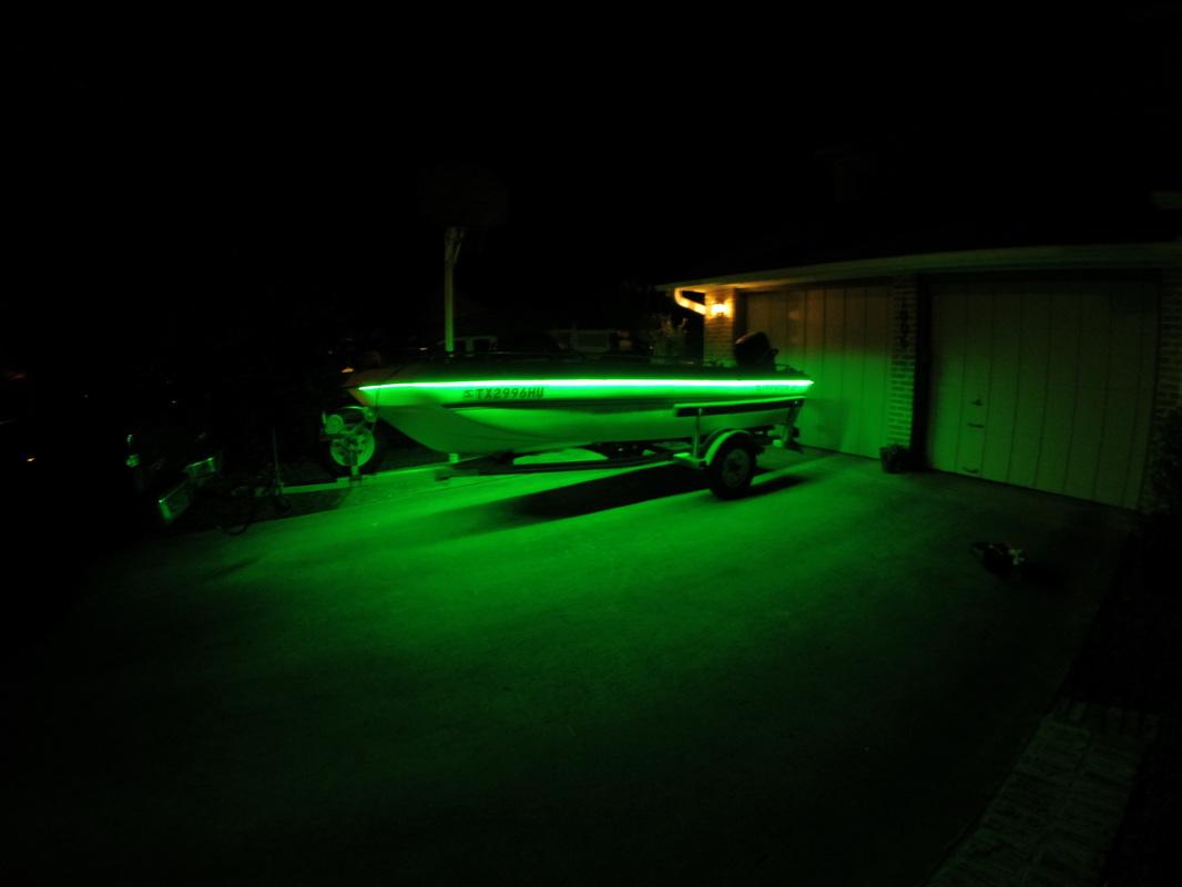 Custom led light kits anytimeoutdoors guide service for Kayak lights for night fishing
